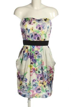 H&M Bustier Dress flower pattern elegant