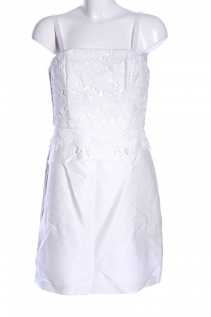 H&M Bustier Dress white flower pattern elegant