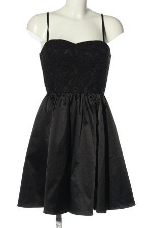 H&M Sukienka gorsetowa czarny Elegancki