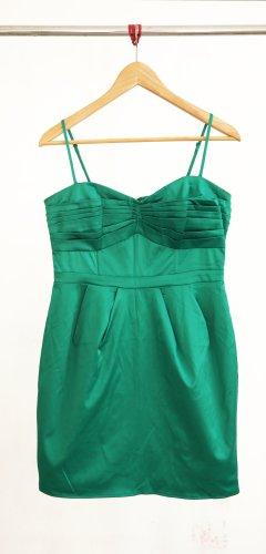 H&M Robe bustier vert foncé