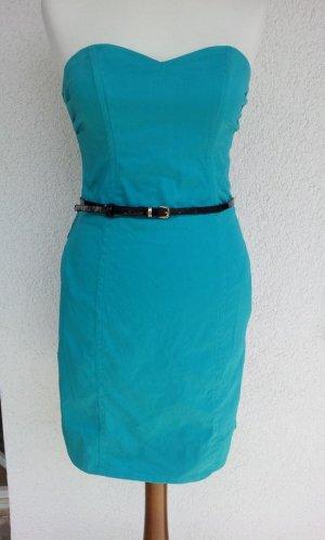 H&M Bandeau Dress turquoise-mint mixture fibre