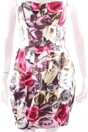 H&M Bustierkleid mit Rosenprint