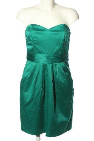 H&M Sukienka gorsetowa turkusowy W stylu biznesowym