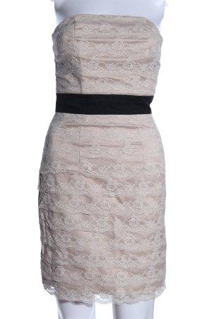H&M Bustierkleid wollweiß-schwarz Elegant