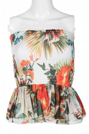 H&M Bustier Top themed print casual look