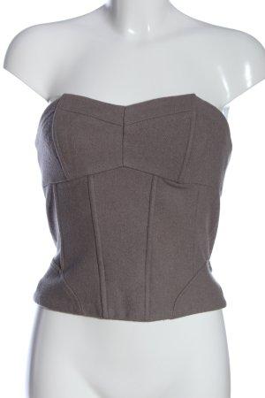 H&M Top tipo bustier marrón elegante