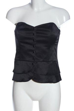 H&M Top gorsetowy czarny W stylu casual