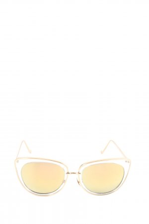 H&M Gafas mariposa color oro look casual