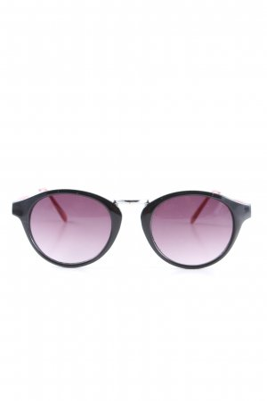 H&M Butterfly Brille schwarz-rot Casual-Look