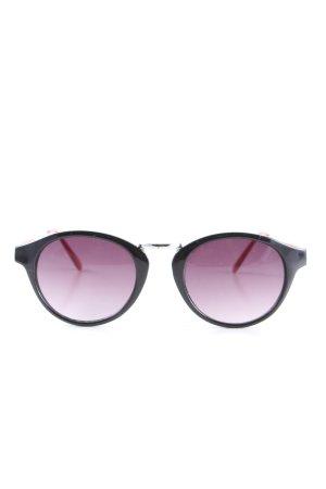 H&M Gafas mariposa negro-rojo look casual