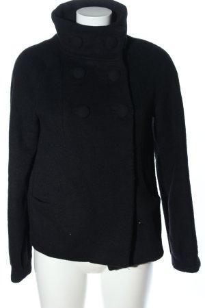 H&M Marynarska kurtka czarny W stylu biznesowym