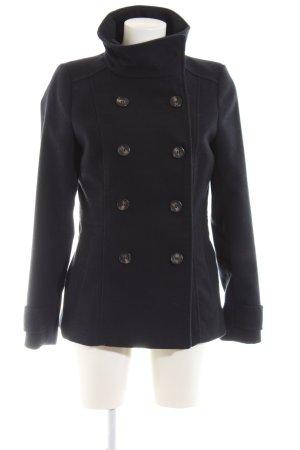 H&M Pea Jacket black business style