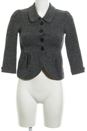 H&M Cabanjacke schwarz-wollweiß Elegant