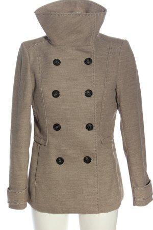 H&M Heavy Pea Coat light grey flecked casual look