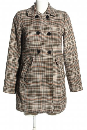 H&M Heavy Pea Coat check pattern business style