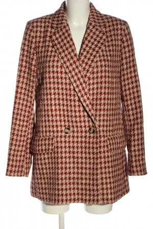 H&M Cabanmantel rot-creme Allover-Druck Casual-Look