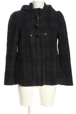 H&M Cappotto stile pilota nero-marrone motivo a quadri stile casual