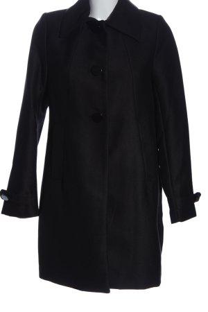 H&M Abrigo de piloto negro moteado look casual