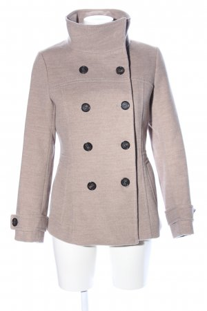 H&M Heavy Pea Coat natural white flecked business style