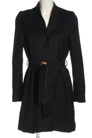 H&M Marynarski płaszcz czarny W stylu casual
