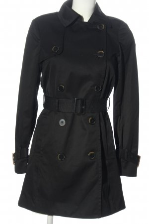 H&M Heavy Pea Coat black casual look