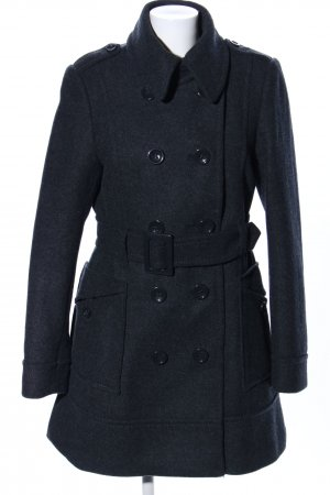H&M Heavy Pea Coat black business style
