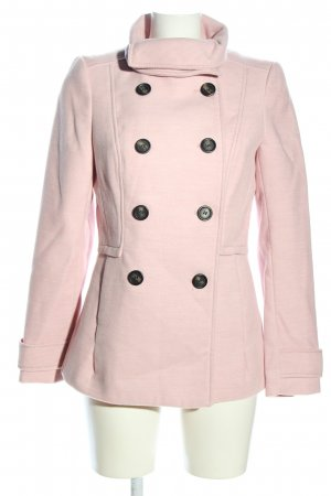 H&M Heavy Pea Coat pink casual look