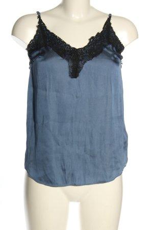 H&M Camisole blau-schwarz Casual-Look