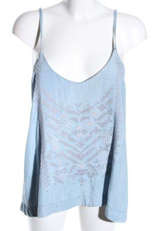 H&M Camisola azul look casual
