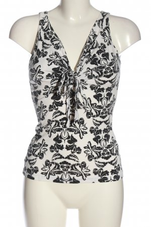 H&M Camisole zwart-wit volledige print casual uitstraling