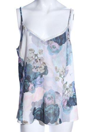 H&M Camisole hellgrau-blau Allover-Druck Casual-Look