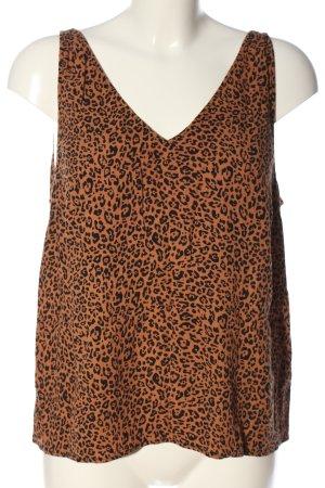H&M Camisole brun-noir motif léopard style décontracté