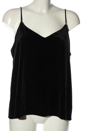 H&M Podkoszulek na ramiączkach czarny W stylu casual