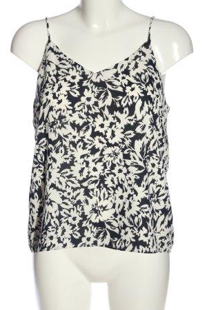 H&M Podkoszulek na ramiączkach czarny-biały Na całej powierzchni