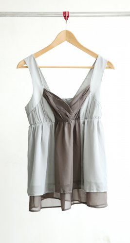 H&M Camisoles silver-colored-grey polyester