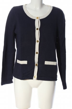 H&M Cardigan blue-natural white striped pattern casual look