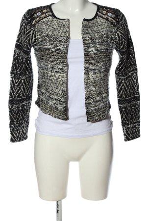 H&M Cardigan weiß-schwarz Allover-Druck Casual-Look