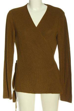 H&M Cache-cœur en tricot brun style décontracté