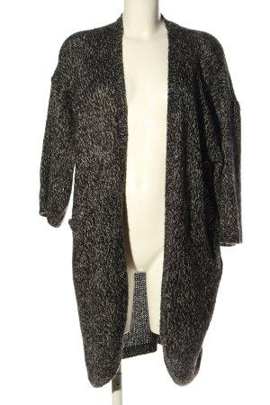 H&M Cardigan schwarz-weiß meliert Casual-Look
