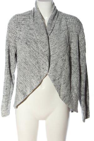 H&M Cardigan weiß-schwarz meliert Casual-Look