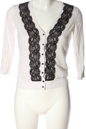 H&M Cardigan weiß-schwarz Casual-Look