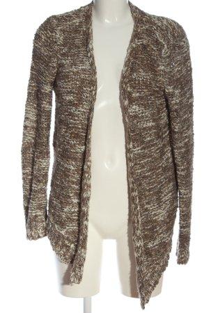 H&M Cardigan braun-wollweiß meliert Casual-Look
