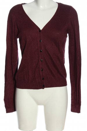 H&M Cardigan rot meliert Casual-Look