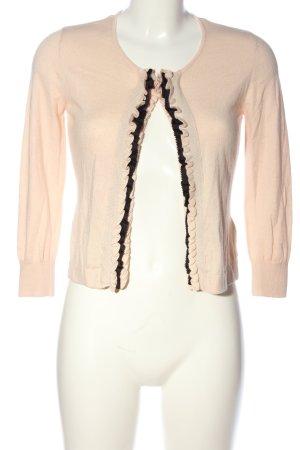 H&M Cardigan pink-schwarz Casual-Look
