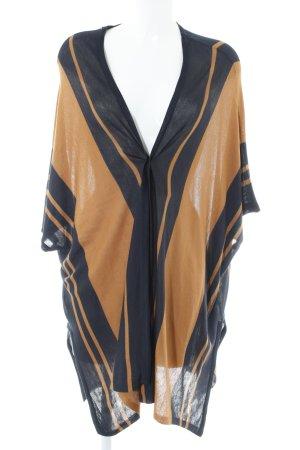 H&M Cardigan dunkelorange-dunkelblau Streifenmuster Casual-Look
