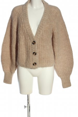 H&M Cardigan creme Zopfmuster Casual-Look
