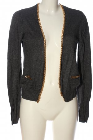 H&M Cardigan schwarz-braun meliert Casual-Look