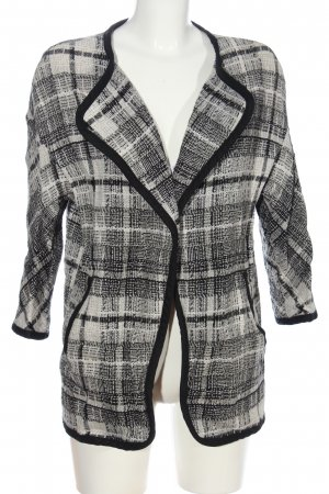 H&M Cardigan weiß-schwarz Karomuster Casual-Look