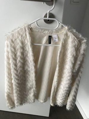 H&M cardigan Fransen xs weiß