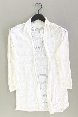 H&M Cardigan Größe M Langarm weiß aus Viskose